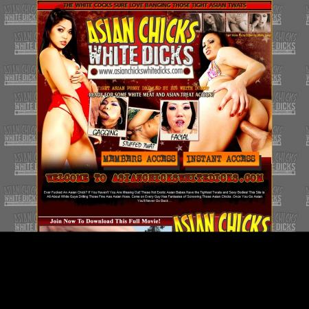 Asian chicks white dicks