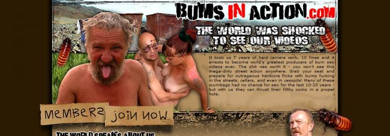 Bums in action