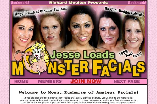Jesse loads monster facial
