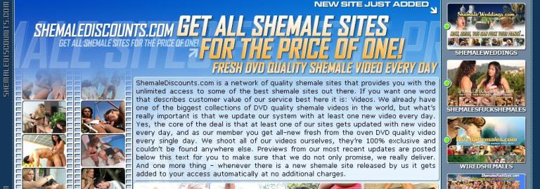 Shemale discounts