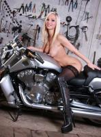 Babes on bike picture 1